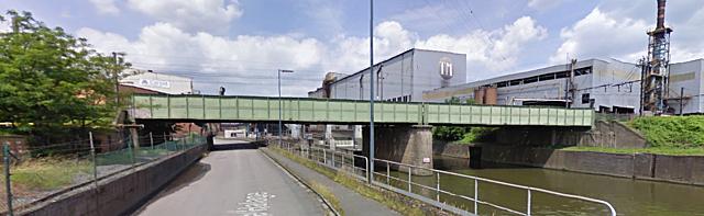 Pont-rail de Louvain, Charleroi