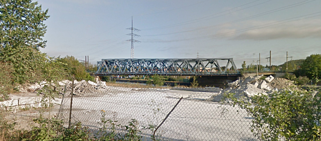 Pont-rail Champeau, Charleroi