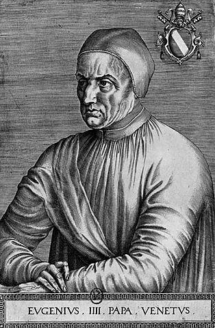 """""""Retrato de Eugenio IV"""" de Jean Fouquet."""