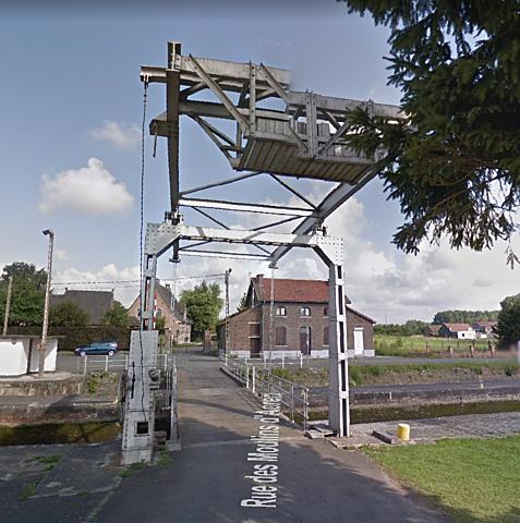 Pont-levis de l'ecluse de Deux Acren, Lessines