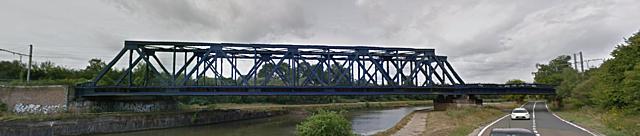 Pont-rail Ligne 124, Pont-à-Celles