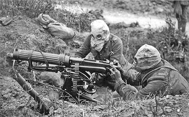 •Trench Warfare, Poison Gas, and Machine Guns (1914)