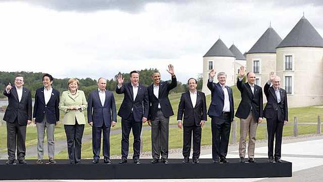 Visita a Irlanda para reunión del G8