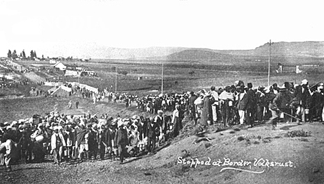 """Gandhi begins the """"Great March"""" to gain Indian rights in South Africa"""