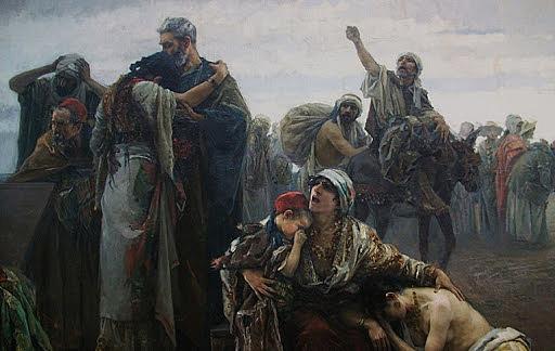 Expulsión de los judíos que no quisiesen bautizarse en 1492.