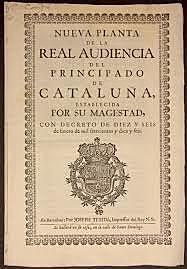 Los Decretos de Nueva Planta ( 1707-1716 )
