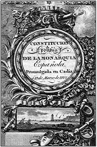 Se redactó la Constitución de la Pepa ( 1812 )