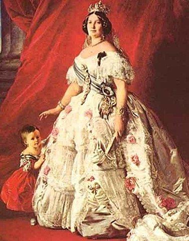 Reinado de la Reina Isabel II  ( 1833 - 1868 )