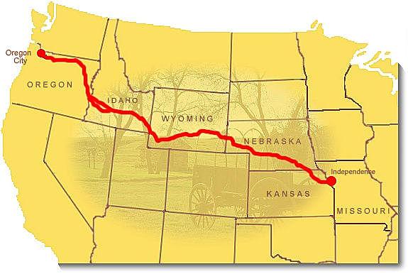 1st organized wagon train begins the Oregon Trail