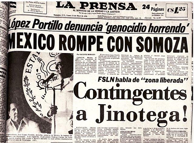 Se rompen relaciones diplomáticas con Nicaragua.