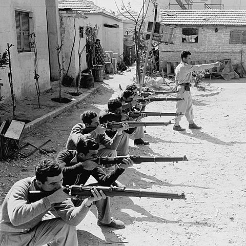 1940-1943 LHI ( Freedom Fighters of Israel) campaign in Palestine