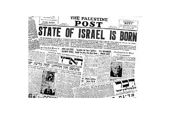 15 May 1948 Proclamation of the state of Israel / Armies of Iraq, Syria, Lebanon, Transjordan and Egypt enter Palestine (Said, 2001)
