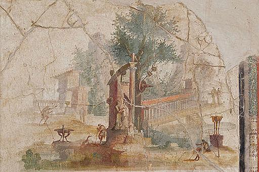 Paisaje pintado en la Villa de Boscotrecase