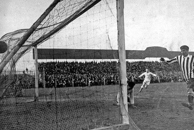 First Goal nets used in a Game
