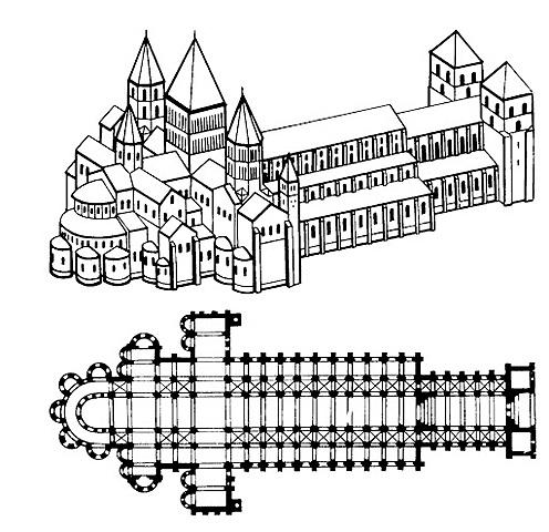 Abadía de Cluny III. (1080- 1220) (orden Benedictina).