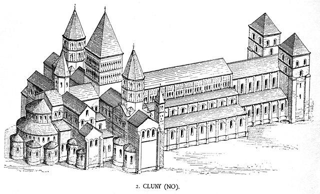 Abadía de Cluny III. Reformas en estilo Gótico.