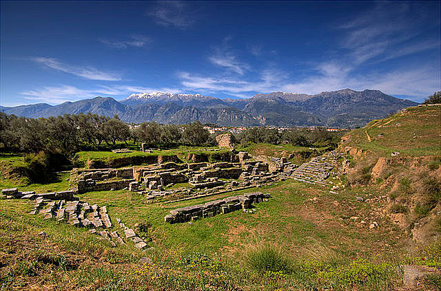 GRECIA. Teatro de la Acrópolis de Esparta
