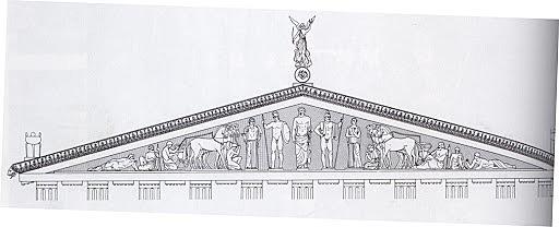Østgavl på Zeustemplet, Olympus 561-527