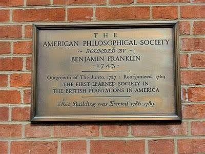 "Benjamin -""The American Philosophical Society"