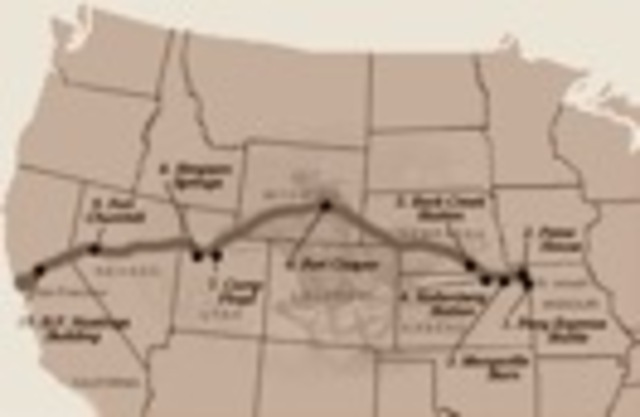 Pony express starts carrying mail from Missouri to California