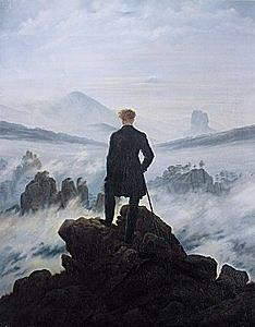 El caminant davant d'un mar de boira de Caspar David Friedrich