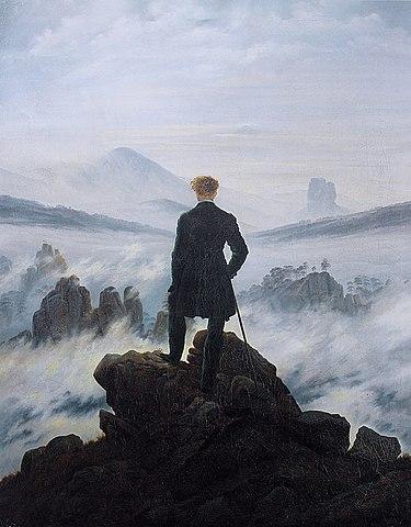 6. El caminante sobre el mar de nubes (Caspar David Friedrich)