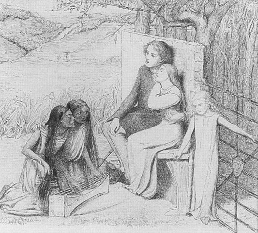 Lovers listening to music - Lizzie Siddal