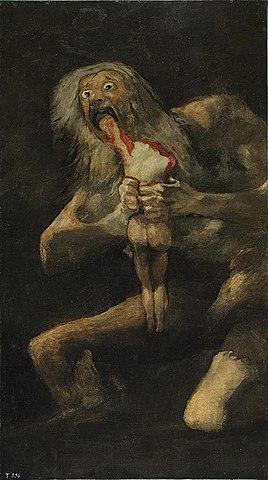 8. Pinturas Negras (Goya) Saturno devorando a su hijo