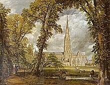 La catedral de Salisbury, vista desde el jardín del palacio arzobispal