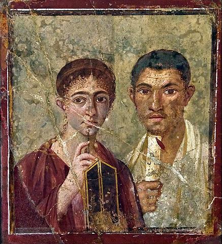 """ROMA. Retrato """"El panadero Terentius Neo y su esposa"""" (Nápoles)"""