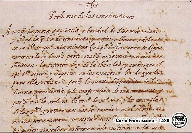 Carta Franciscana