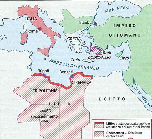 L'Italia dichiara guerra alla Turchia per la conquista della Libia