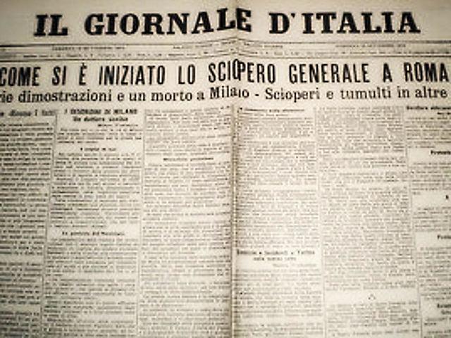 Primo sciopero generale nazionale