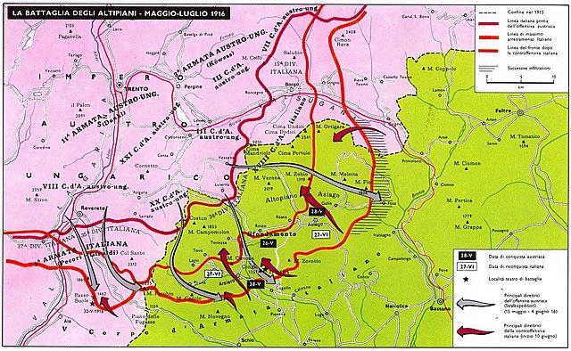 La Strafexpedition austriaca e la controffensiva italiana