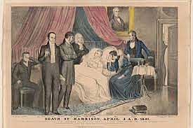 William Henry Harrison dies one month in office