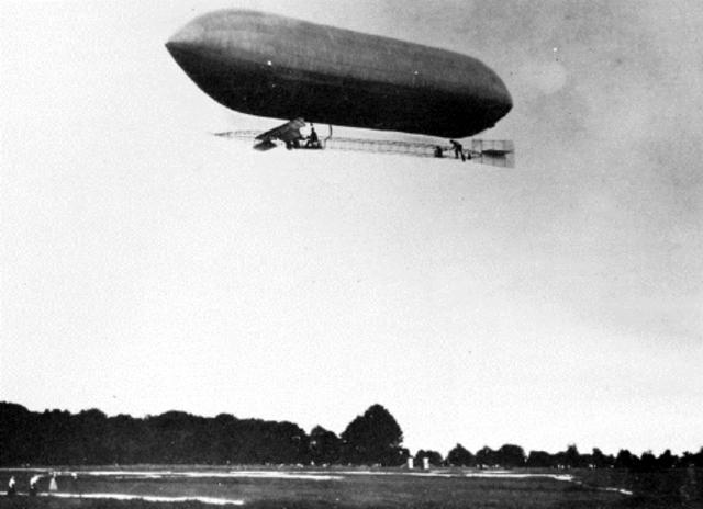 First Flight of British Army Dirigible