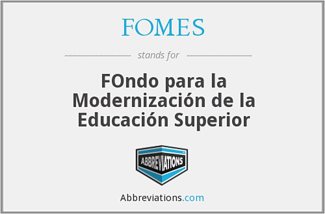 Se implanta el Fondo para la Modernización de la Educación Superior