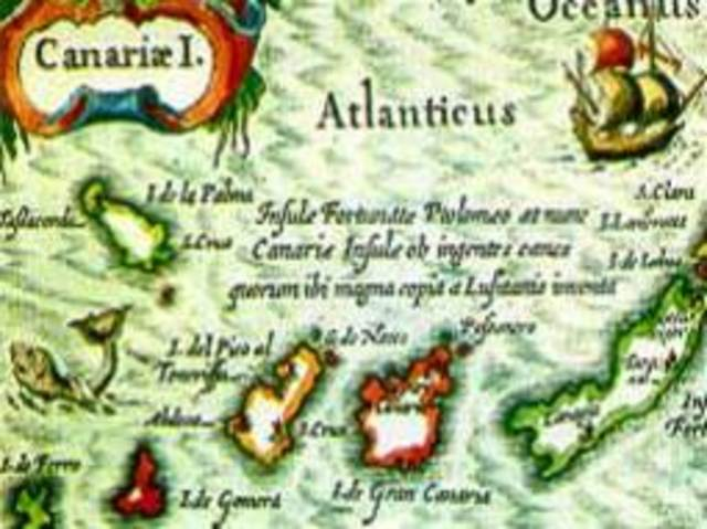 Spanish empire begins with the invasion of the Canary Islands