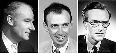 Nobel Saria: Francis Crick, James Watson eta Maurice Wilkins