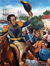 Bolivar and his Troops Begin Venezuela's Fight for Independence.