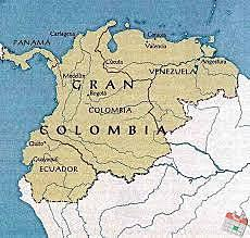 Bolívar's Gran Columbia gains it's Independence