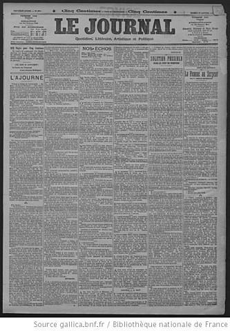 Le Journal («Газета»)
