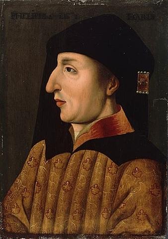 """Felipe II de Borgoña. """"El Atrevido"""". (1342-1404). - Dinastía de Valois."""
