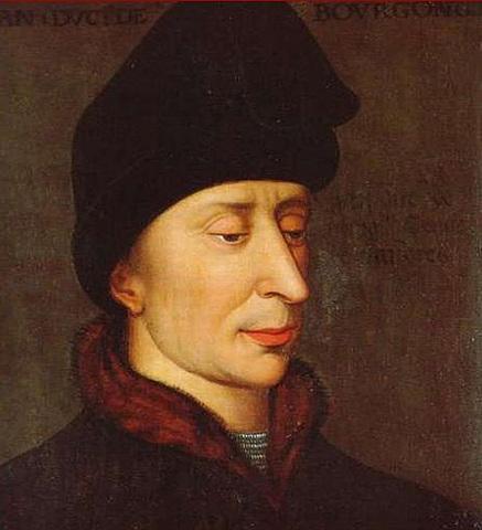 """Juan I de Borgoña. """"Sin Miedo"""". (1371-1419). - Dinastía Valois."""