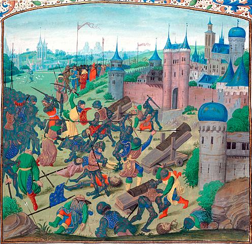 La batalla de Poitiers. (conocida como Segunda batalla de Poitiers).