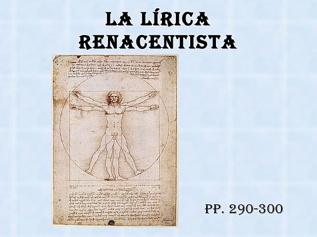 Lírica del renacimiento