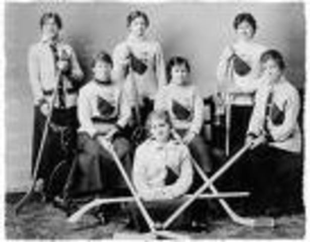 First Women's Hockey Game
