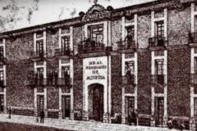 Se funda el Real Seminario de Mineria en Mexico