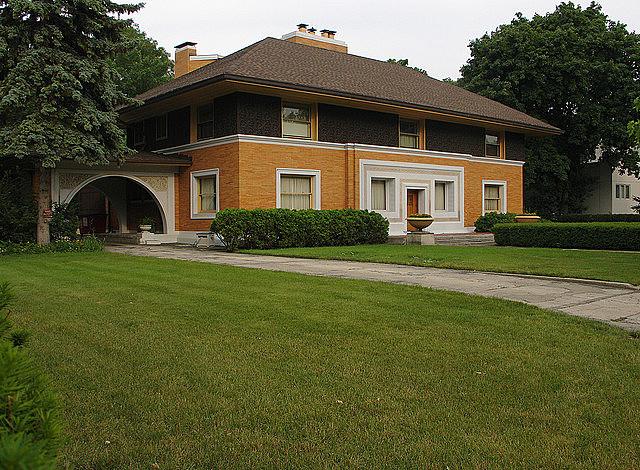 Casa William H. Winslow de Frank Lloyd Wright.