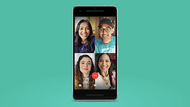 Videollamadas grupales en WhatsApp